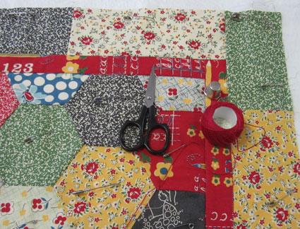 Tie-a-quilt---supplies